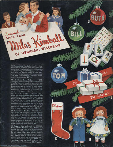 Unusual Gifts from Miles Kimball 1950