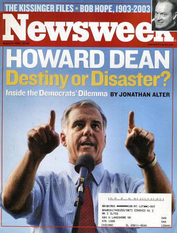 Newsweek Magazine August 11, 2003