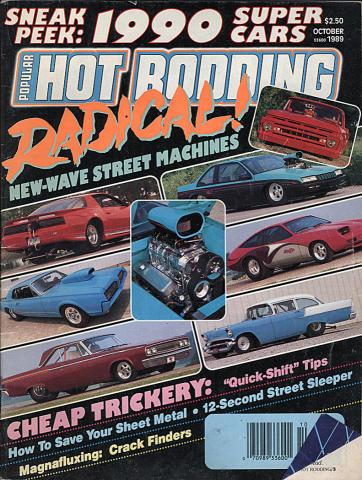 Popular Hot Rodding Magazine October 1989