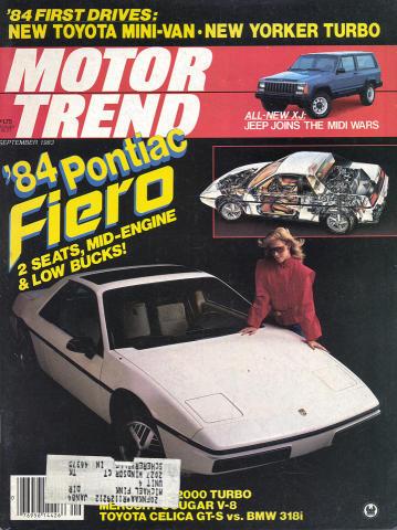 Motor Trend Magazine September 1983