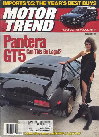 Motor Trend Magazine December 1984