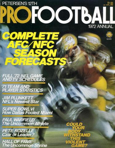 Petersen's Pro Football Annual 1972