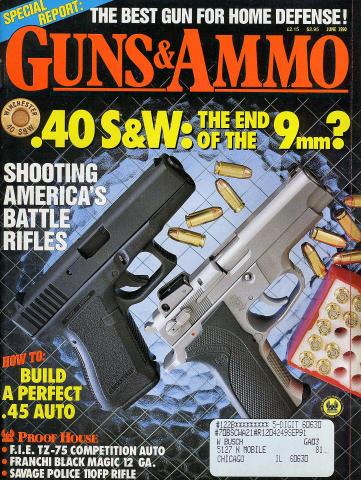 Guns & Ammo Magazine June 1990