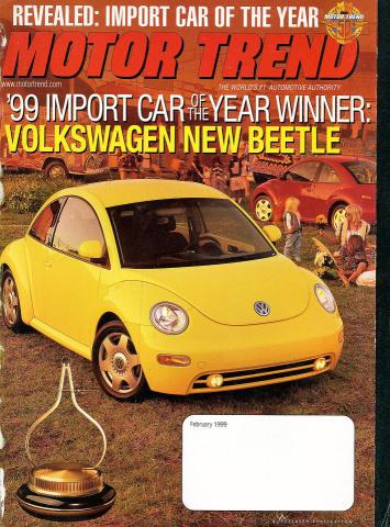Motor Trend: '99 Import Car Of The Year Winner February 1999