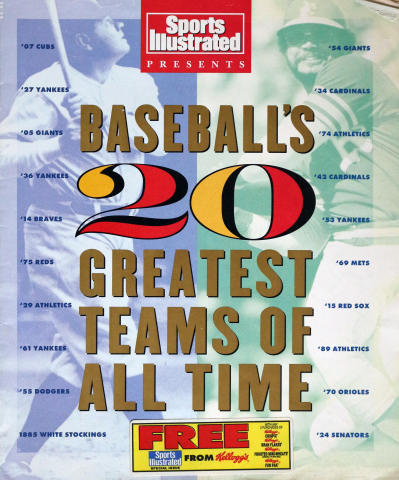 Sports Illustrated Baseball's 20 Greatest Teams of All Time 1991