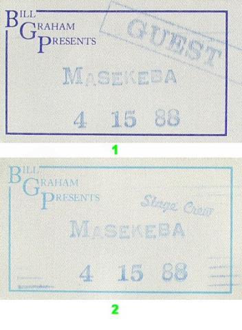 Miriam Makeba Backstage Pass