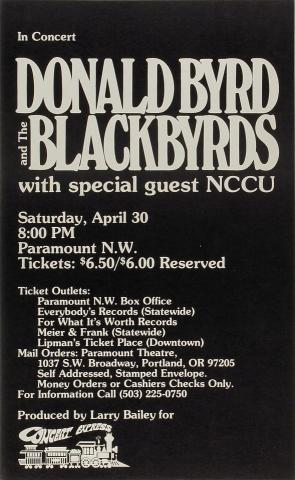 Donald Byrd Poster