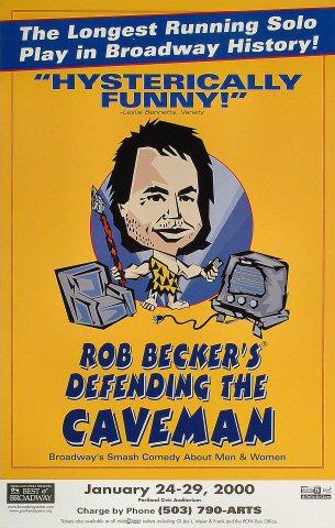 Rob Becker's Defending the Caveman Poster