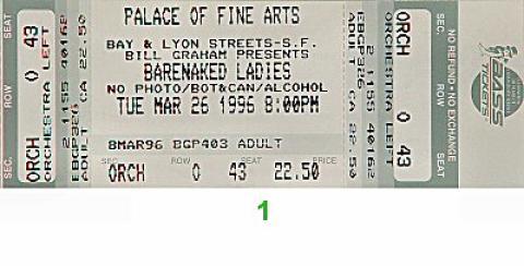 Barenaked Ladies Vintage Ticket