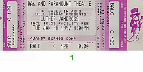 Luther Vandross Vintage Ticket