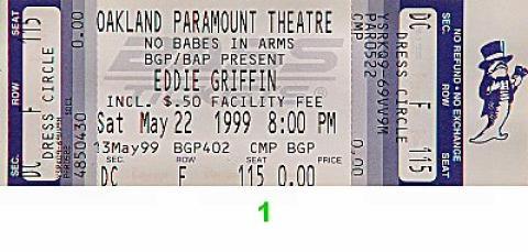 Eddie Griffin Vintage Ticket