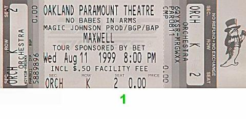 Maxwell Vintage Ticket