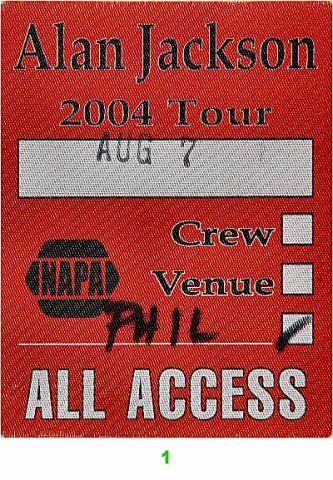 Alan Jackson Backstage Pass