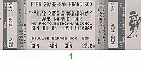 Rancid Vintage Ticket