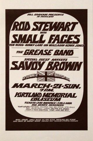 Rod Stewart Handbill
