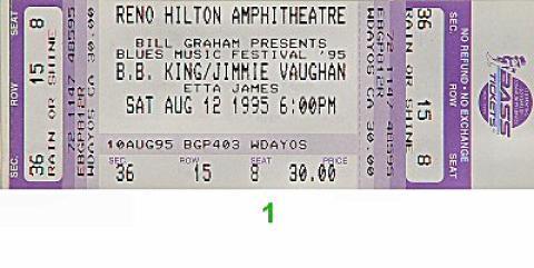 Blues Music Festival Vintage Ticket