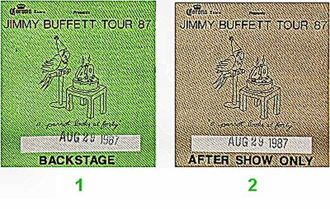 Jimmy Buffett Backstage Pass