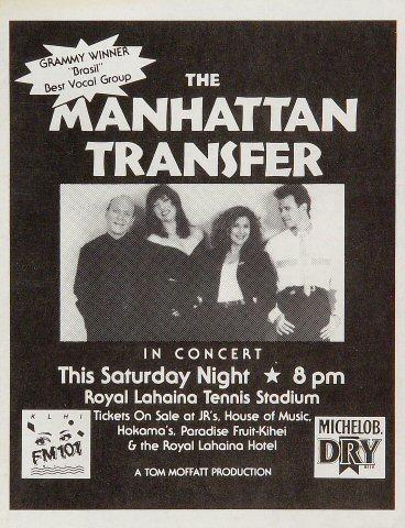 The Manhattan Transfer Handbill