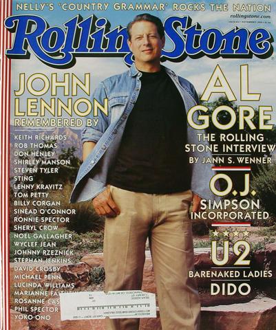 Rolling Stone Magazine November 9, 2000