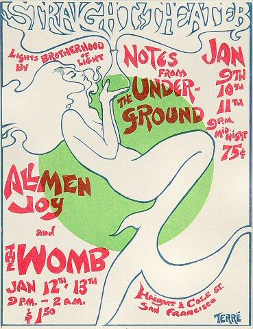Notes From the Underground Handbill