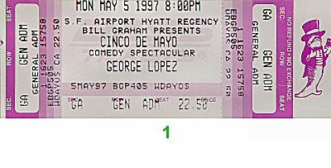 George Lopez Vintage Ticket