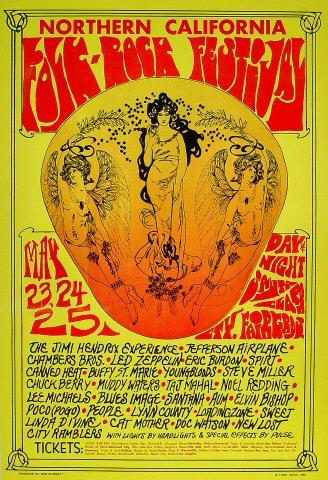 Northern California Folk-Rock Festival Poster