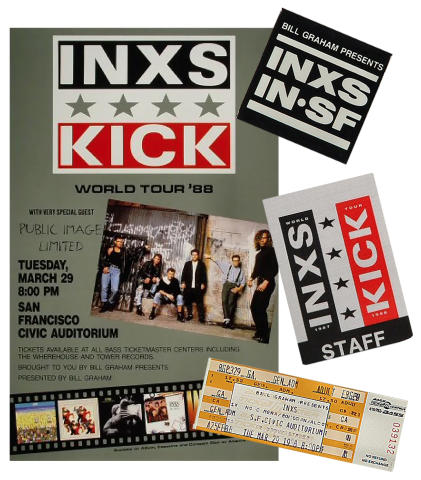 INXS Poster/Ticket/Pass Set