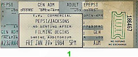 The Jackson 5 Vintage Ticket