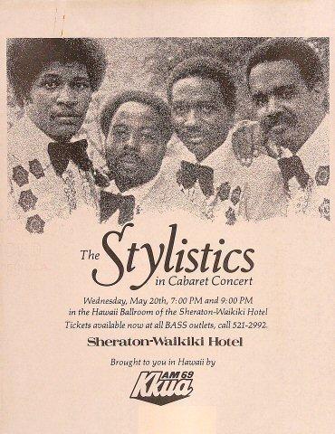 The Stylistics Handbill