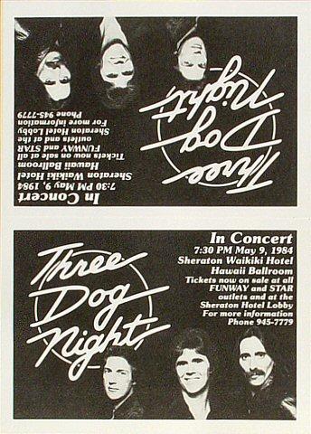 Three Dog Night Handbill