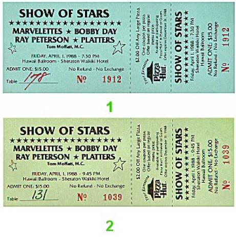 The Platters Vintage Ticket