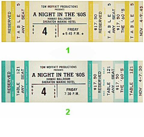 A Night in the '60s Vintage Ticket