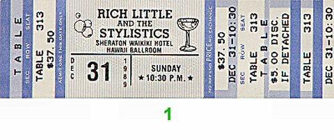 Rich Little Vintage Ticket