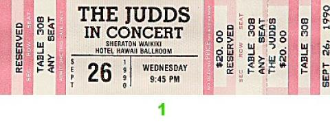 The Judds Vintage Ticket