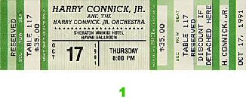 Harry Connick Jr. Vintage Ticket