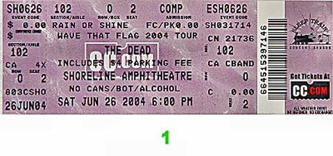 The Dead Vintage Ticket