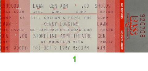 Kenny Loggins Vintage Ticket