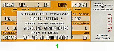 Gloria Estefan & Miami Sound Machine Vintage Ticket