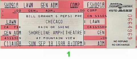 Chicago Vintage Ticket
