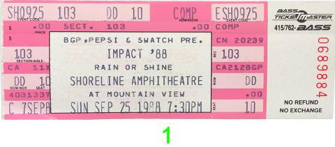 Impact '88 Vintage Ticket