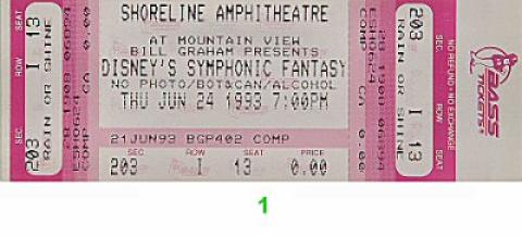 Disney's Symphonic Fantasy Vintage Ticket