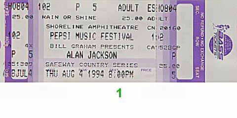 Pepsi Music Festival Vintage Ticket