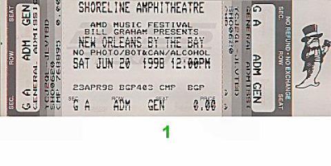 "Clarence ""Gatemouth"" Brown Vintage Ticket"
