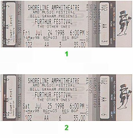 Further Festival Vintage Ticket