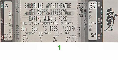 Earth, Wind & Fire Vintage Ticket