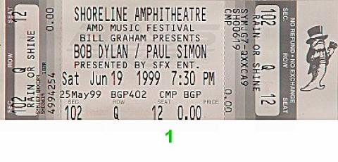 Paul Simon Vintage Ticket
