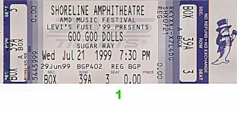 Goo Goo Dolls Vintage Ticket