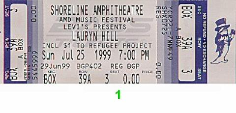 Lauryn Hill Vintage Ticket