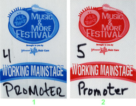 Nickelodeon All That Music and More Festival Backstage Pass