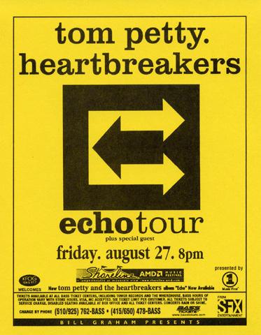 Tom Petty & the Heartbreakers Handbill